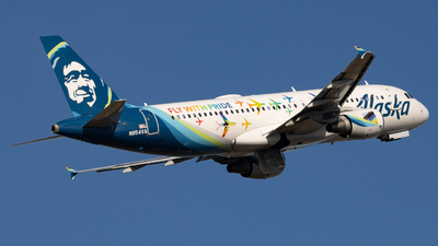 A picture of N854VA - Airbus A320214 - Alaska Airlines - © soflo_spotter