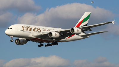A picture of A6EUB - Airbus A380861 - Emirates - © Ferenc Kolos