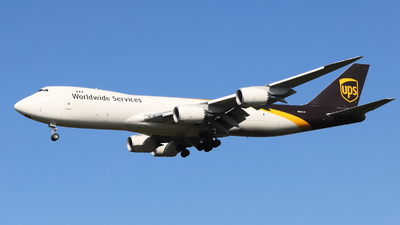A picture of N607UP - Boeing 7478F - UPS Airlines - © Holger Eultgen
