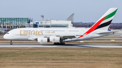 A picture of A6EVI - Airbus A380842 - Emirates - © Angelo26L