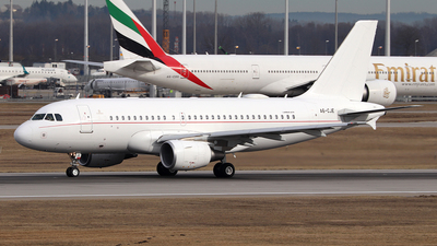 A6-CJE - Airbus A319-115X(CJ) - United Arab Emirates - Government