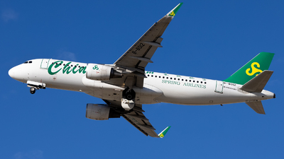 A picture of B8012 - Airbus A320214 - Spring Airlines - © WYANG0520