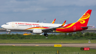 A picture of B5636 - Boeing 73784P - Hainan Airlines - © Levine