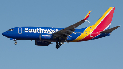 A picture of N7855A - Boeing 73779P - Southwest Airlines - © PAUL LINK