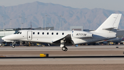 N7777B - Cessna 680 Citation Sovereign - Private