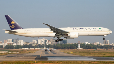 A picture of HZAK30 - Boeing 777368(ER) - Saudia - © Emdadul Hoque