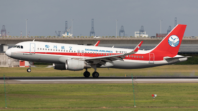 A picture of B8372 - Airbus A320214 - Sichuan Airlines - © Mel_Ben_Li