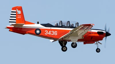3436 - Beechcraft T-34C Turbo Mentor - Taiwan - Air Force