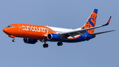 A picture of N833SY - Boeing 7378KN - Sun Country Airlines - © HA-KLS