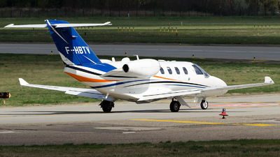 F-HBTV - Cessna 525 CitationJet M2 - Private