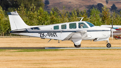 ZK-RNT - Beechcraft A36 Bonanza - Private