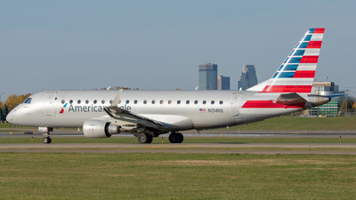A picture of N134HQ - Embraer E175LR - American Airlines - © Lynden Westrich
