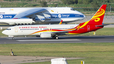 A picture of B6103 - Boeing 73784P - Hainan Airlines - © JohnMPeng