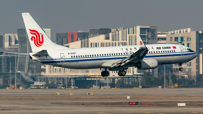 A picture of B6497 - Boeing 73789L - Air China - © Smiling SHA
