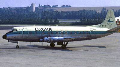 LX-LGC - Vickers Viscount 814 - Luxair - Luxembourg Airlines