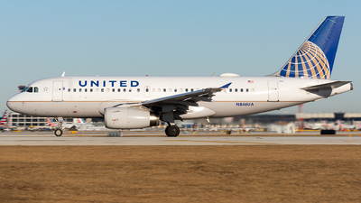 A picture of N846UA - Airbus A319131 - United Airlines - © Kevin Cargo