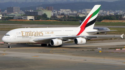A picture of A6EDT - Airbus A380861 - Emirates - © BiggyHsia