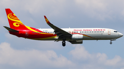 A picture of B1549 - Boeing 73784P - Hainan Airlines - © AGUIJUN-Lei