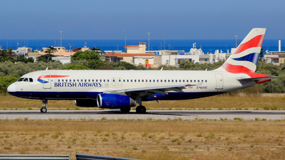 A picture of GEUUG - Airbus A320232 - British Airways - © Pampillonia Francesco - Plane Spotters Bari