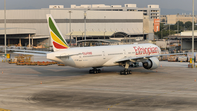 A picture of ETASK - Boeing 777360(ER) - Ethiopian Airlines - © Louis He