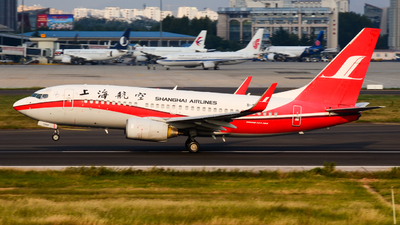 A picture of B5260 - Boeing 73776D - Shanghai Airlines - © Fei Yu