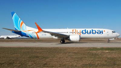 A picture of A6FNB - Boeing 737 MAX 9 - FlyDubai - © Marin Ghe.