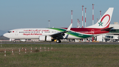 A picture of CNRNK - Boeing 7378B6 - Royal Air Maroc - © Gianluca Mantellini