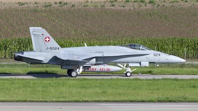 J-5024 - McDonnell Douglas F/A-18C Hornet - Switzerland - Air Force