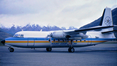 ZK-BXF - Fokker F27-100 Friendship - Mount Cook Airlines