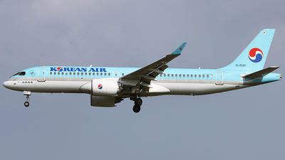 A picture of HL8091 - Airbus A220300 - Korean Air - © REDSOX