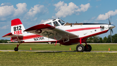 N474H - Air Tractor AT-802F - Private