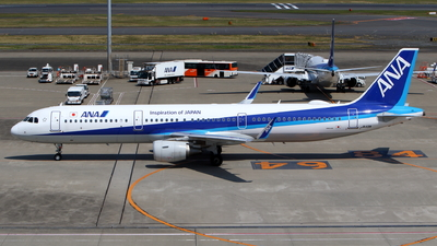 A picture of JA113A - Airbus A321211 - All Nippon Airways - © kouyagi