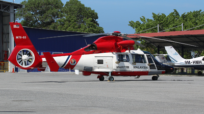 M70-03 - Eurocopter AS 365N3 Dauphin - Malaysia - Maritime Enforcement Agency (MMEA)