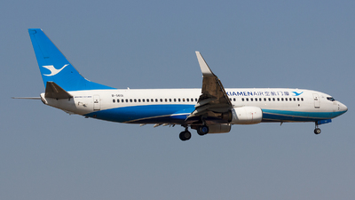 A picture of B5601 - Boeing 73786N - Xiamen Air - © Aaron_ZSAM