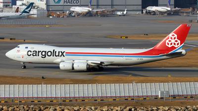 A picture of LXVCA - Boeing 7478R7(F) - Cargolux - © Jubilant Chan - AHKGAP