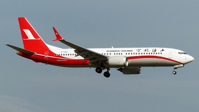 A picture of B1263 - Boeing 737 MAX 8 - Shanghai Airlines - © verduyn