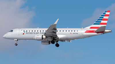 A picture of N107HQ - Embraer E175LR - American Airlines - © Evan Dougherty