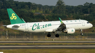 A picture of B8247 - Airbus A320214 - Spring Airlines - © F3E1988