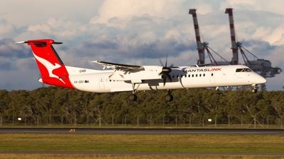 A picture of VHQOU - De Havilland Canada Dash 8400 - QantasLink - © Rory Delaney