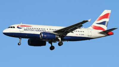 G-EUPB - Airbus A319-131 - British Airways
