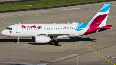 A picture of DAGWJ - Airbus A319132 - Eurowings - © Finnographie