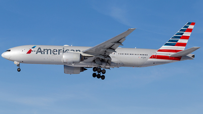 A picture of N772AN - Boeing 777223(ER) - American Airlines - © Elise Van de Putte