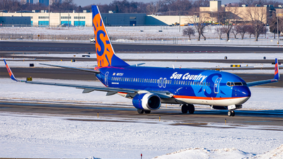 A picture of N817SY - Boeing 7378K2 - Sun Country Airlines - © Mateo Skinner