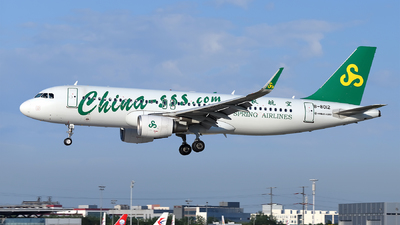 A picture of B8012 - Airbus A320214 - Spring Airlines - © dxtrx