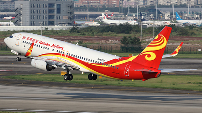 A picture of B5337 - Boeing 73784P - Hainan Airlines - © YIJING HOU