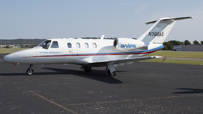 A picture of N380AG - Cessna 525 CitationJet CJ1+ - [5250652] - © Andrew Hutnyan