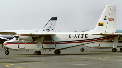G-AYJE - Britten-Norman BN-2A Islander - TACV Cabo Verde Airlines