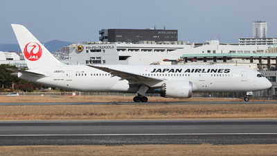 JA847J - Boeing 787-8 Dreamliner - Japan Airlines (JAL)
