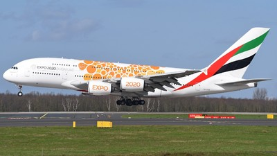 A picture of A6EOB - Airbus A380861 - Emirates - © Jan Heinrich