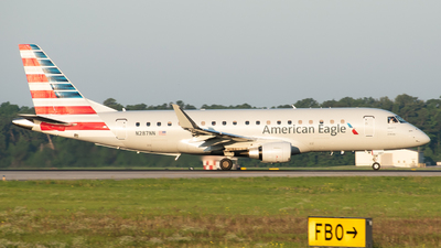 A picture of N287NN - Embraer E175LR - American Airlines - © Devin | Charleston.Spotter